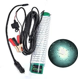 Green Blob Outdoors Fishing Light (Green, Blue, White, or Multi) - Alligator Clips & Cigarette Lighter Underwater, w/ 30ft Cord, LED, Fish Attractor (15,000 Alligator Clips/Cigarrette, White)