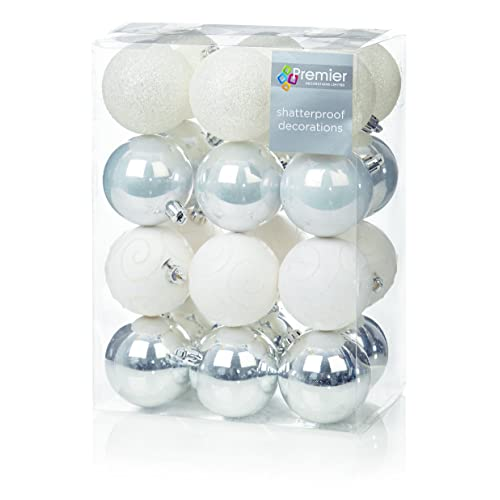 Silver And White Christmas Tree Decorations Amazon Co Uk