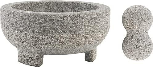 Farberware 5216415 Professional Granite Molcajete Mortar and Pestle Stone Grinder, 4-Cup
