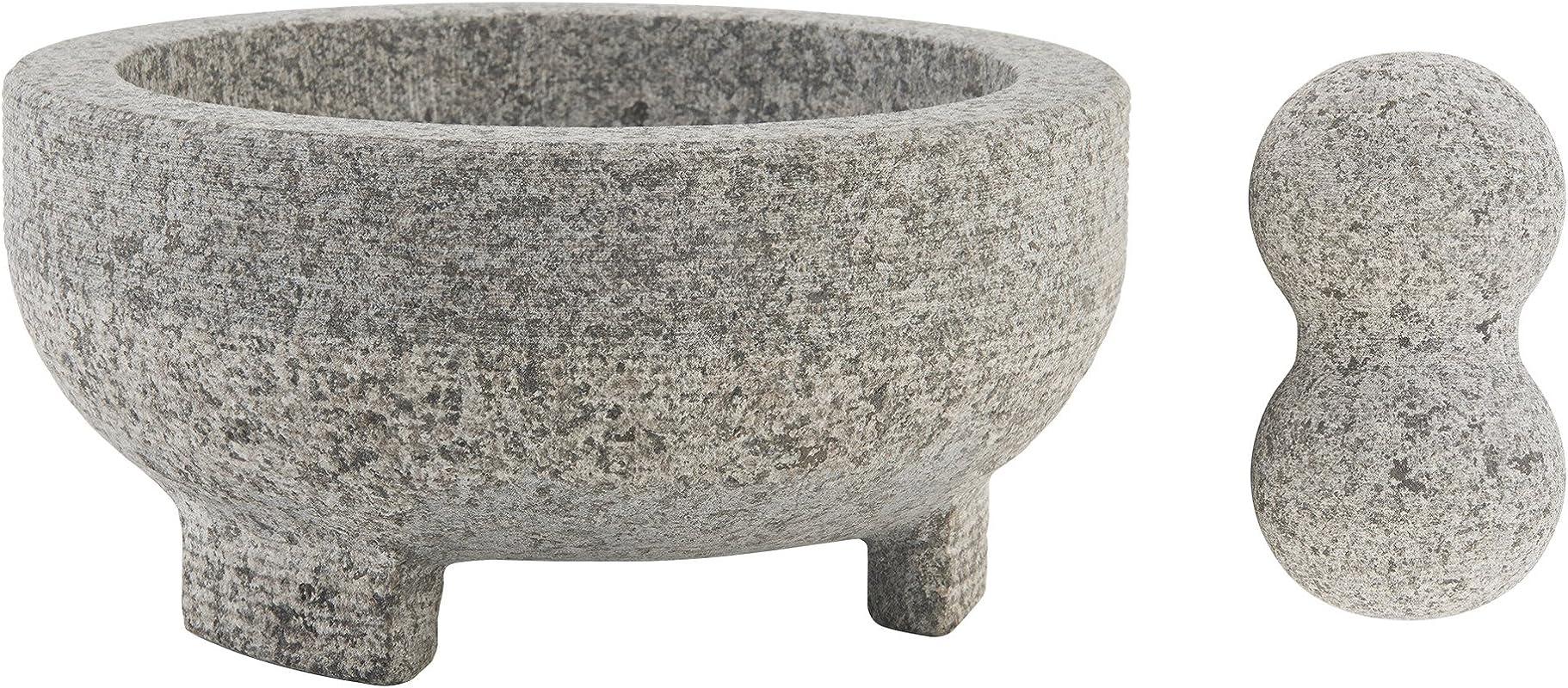 Farberware 5216415 Professional Granite Molcajete Mortar And Pestle Stone Grinder 4 Cup