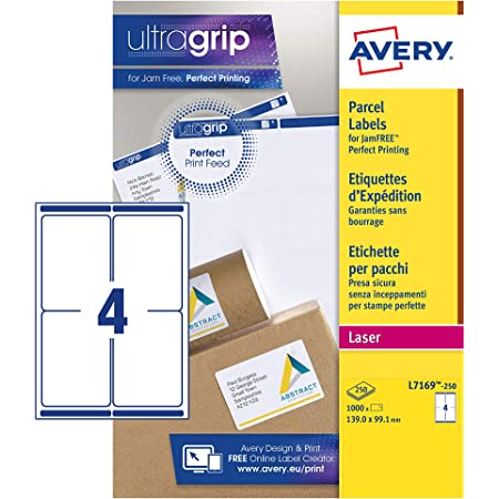 24 Self Adhesive Printer Address Sticky Labels Per 100//500//1000 A4 Sheets Page L7159 DC24 100