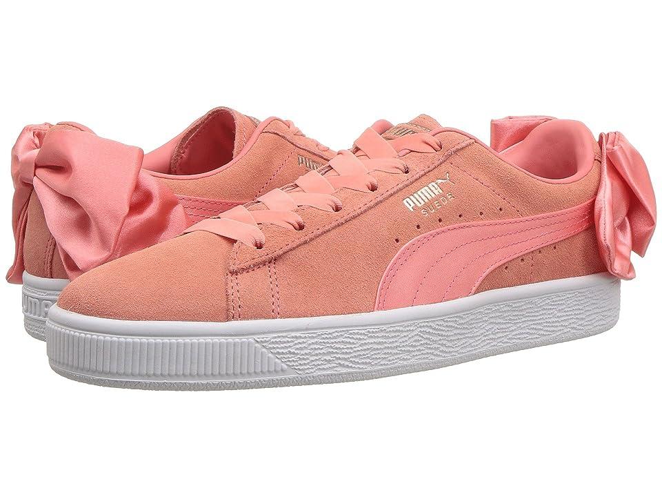Puma Kids Suede Bow Jr (Big Kid) (Shell Pink) Girls Shoes