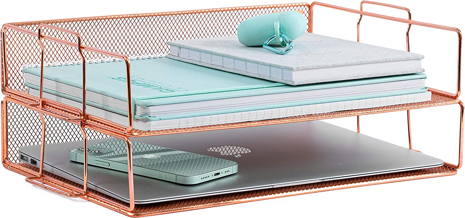 Rose High quality Manufacturer direct delivery Gold Letter Tray - 2 for Wome Tier Organizer Desk