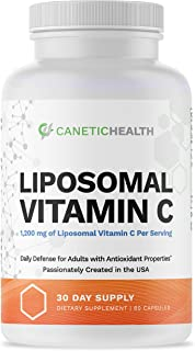 Liposomal Vitamin C Supplement 1200mg Capsules Best Vitamin C Made in USA High Dose High Potency Raw VIT C Compare to Gel ...