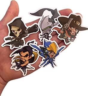 Overwatch Custom Print Die Cut Bumper Vinyl Stickers - Pack of All 27 Characters (Cute)