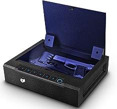 Biometric Gun Safe for 2 Pistols, Quick Access Handgun Safe for Home, Fingerprint Hand Gun Safe Firearm Case Box -Upgraded...