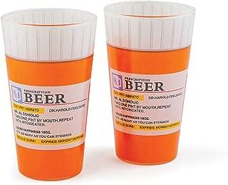 BigMouth Inc Prescription Pint Glass, Set of 2 Ceramic Drinking Cups, Pilsner Glasses