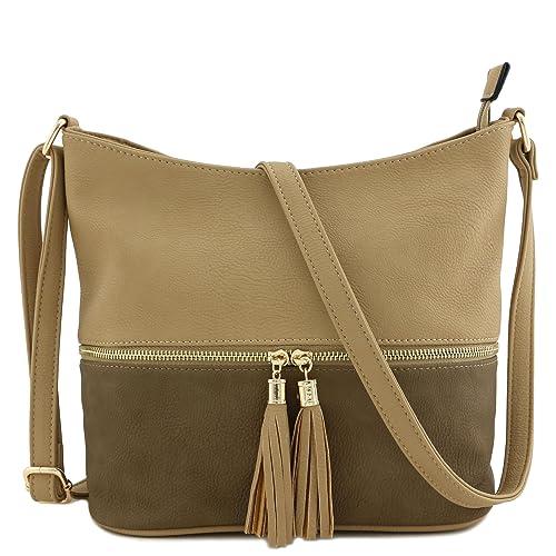 00e73c620 Leather Crossbody Bag with Tassels: Amazon.com