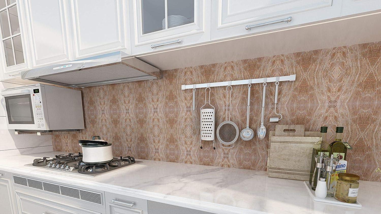 Adhesivo para azulejos para azulejos Tink Pegatinas de PVC cocina 10 x 10 cm //// 20 unidades, Marble Egipto superficies de madera y escaleras ba/ño