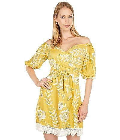 BCBGMAXAZRIA Off-the-Shoulder Printed Dress