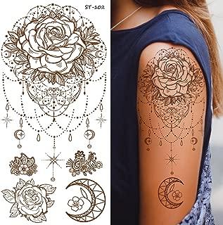 Supperb Temporary Tattoos - Inspired Mandala Rose Jewelry Healing Yoga Meditation Tattoo