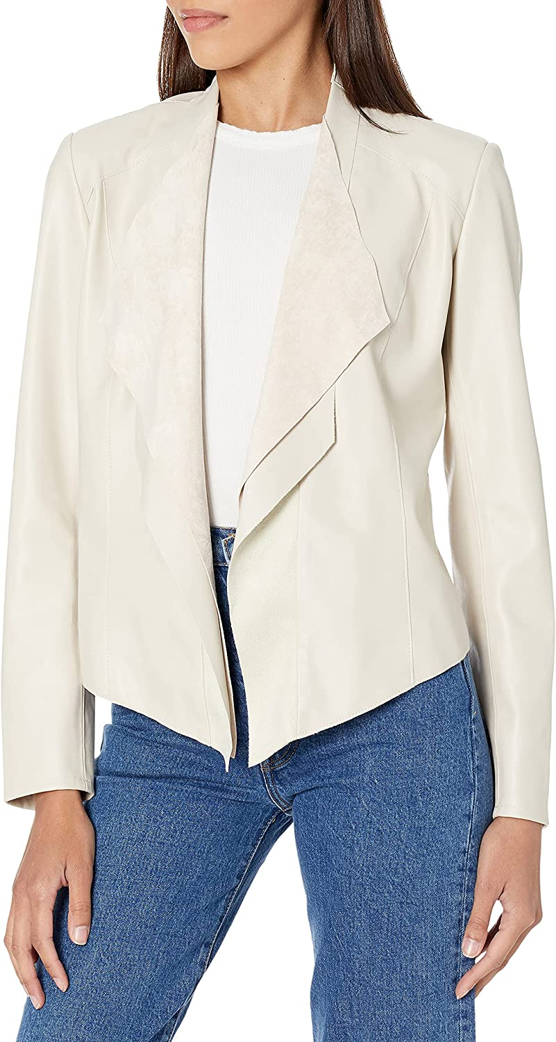BLANKNYC womens Industry No. 1 Luxury Clothing Faux Suede Ranking TOP10 Drape Front Jacket