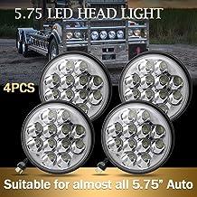 "Jiuguang 4pcs 5.75"" 36W Crystal Round LED Headlight Sealed Beam IP68 Waterproof Replacement 4000 4040 5506 H5006 H651 / H466 Chrome (4pcs)"