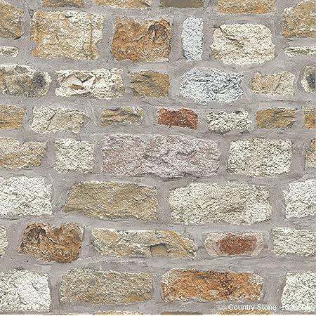 Arthouse 696500 Country Stone Wallpaper, Brown, 6.5 cm*1005.0 cm*53.0 cm