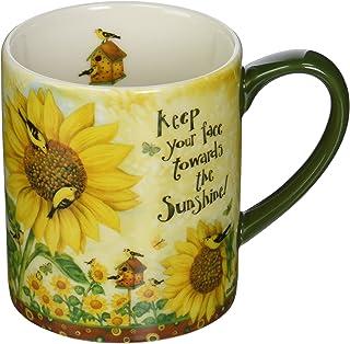 LANG Sunflowers 14 oz. Mug by Debi Hron (10995021037), Ceramic, Multicolor