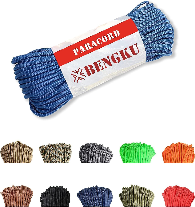 BENGKU Outdoor Mil-SPEC store 550lb Parachute Cord Paracord Max 42% OFF MIl-C-5040