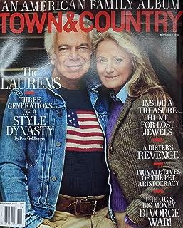 Town & Country Magazine (November, 2018) Ralph Lauren Cover
