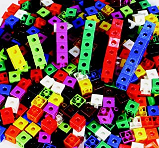 Childcraft Linking Cube Set, 3/4 Inches, Assorted Colors, Set of 100 - 264681