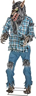 Holiday Living Dc Animatronic Werewolf Pre-Lit Lifesize Greeter with Constant Green LED Lights (78.74-in)