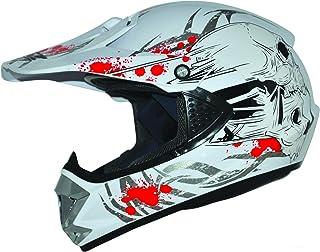 ATO-Helme Kids Pro Kinderhelm Crosshelm Schutzhelm Motorradhelm Quadhelm Kinder Cross BMX Helm S 55/56cm, Weiß