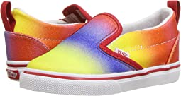 (Rainbow Glitter) Racing Red/True White
