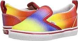 (Rainbow Glitter) Racing Red/True White