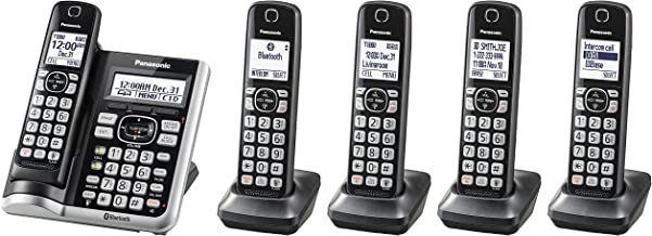 Panasonic KX-TGF575S Link2Cell BluetoothCordless Phone with Voice Assist and Answering Machine - 5 Handsets (Renewed) photo
