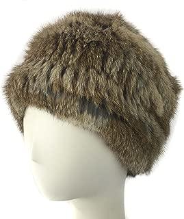 surell Rabbit Fur Flapper Hat - Slouch Style Winter Hat - Bridal Wedding Attire Brown