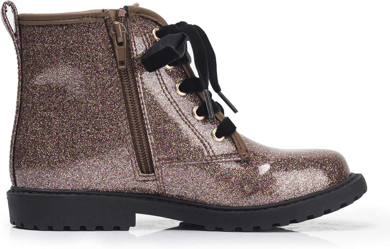 FITORY M/ädchen Stiefel Glitter Winter Schneestiefel Warm Wasserdicht mit seitlicher Rei/ßverschluss Kinder Gr.29-37