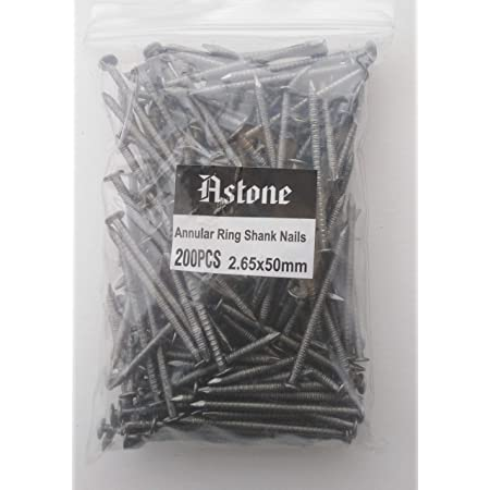 500g BAGS BRIGHT ANNULAR RING SHANK NAILS 20mm 30mm 40mm 50mm 65mm 75mm *
