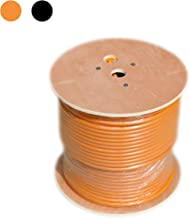 RG11 Coaxial Cable roll of Tri-Shield Underground Drop Direct Burial Flooded Coax Digital Cabling with Gel (Indoor/Outdoor) 500' or 1000' Bulk Wire/by CableProof (500 FT, Orange)
