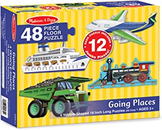 Melissa & Doug Going Places Floor Puzzle (Easy-Clean Surface, Promotes Hand-Eye Coordination, 48 Pieces, Each Puzzle Is 18