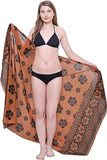 chocolate brown sarong