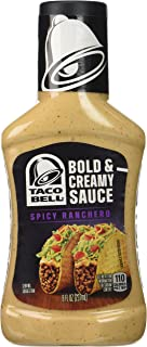 Taco Bell Bold & Creamy, Spicy Ranchero Sauce, 8 Oz bottle
