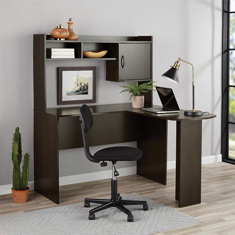 Amazon Com Mainstays Student Desk Home Office Bedroom Furniture Indoor Desk Easy Glide Accessory Drawer Desk Only Rodeo Oak L Shaped Desk Espresso Sports Outdoors