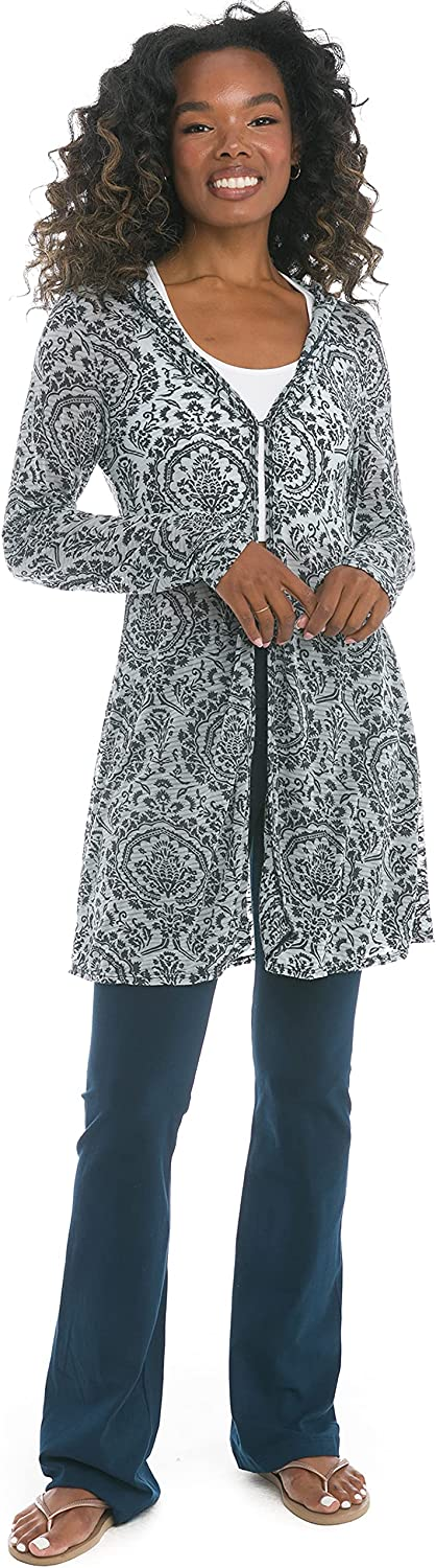 Hard Tail Women's Medallion One Button Hoodie Cover-Up Style ML08