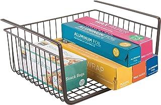 InterDesign York Lyra panier grillagé à suspendre, grand panier de rangement ouvert en métal pour la cuisine ou l'armoire,...