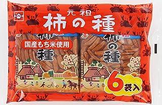 浪花屋 元祖柿の種6袋パック 144g ×12袋