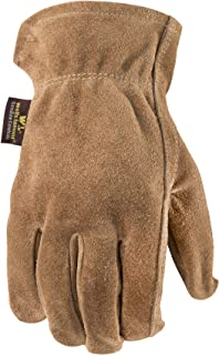 Wells Lamont Leather Work Gloves, Suede Cowhide, Large (1012L)