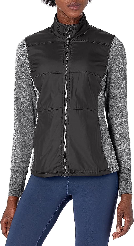 Cutter & Buck womens Moisture Wicking Drytec Stretch Knit Stealth Full Zip Jacket