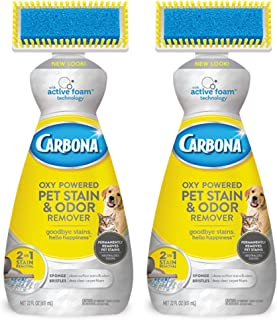 Carbona 2-in-1 Oxy-Powered Pet Stain & Odor Remover w/Active Foam Technology | 22 Fl Oz, 2 Pack