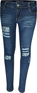dollhouse Girl's Denim Skinny Jeans with Fashion Designs