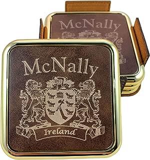 McNally Irish Coat of Arms Rustic Brown Coasters - Set of 4