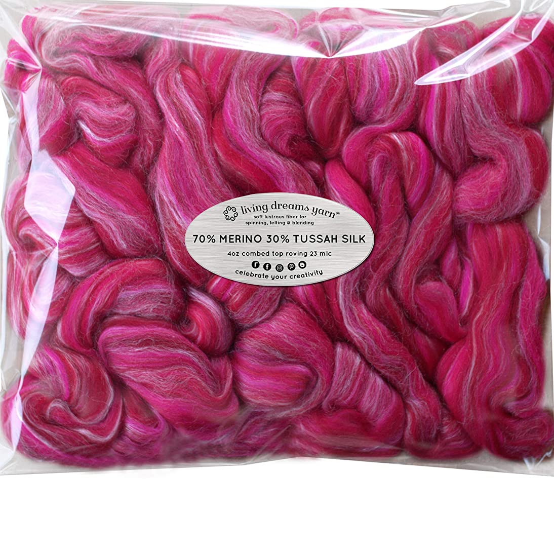 Silk Merino Fiber for Spinning. Super Soft Combed Top Wool Roving for Hand Spinning, Wet Felting, Nuno Felting, Needle Felting, Soap Making, Paper Making and Embellishments. Me & Julio