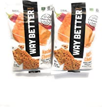 Way Better Snacks Sprouted Gluten Free Tortilla Chips, Nacho Cheese 2 oz Each, (2 Pack)!