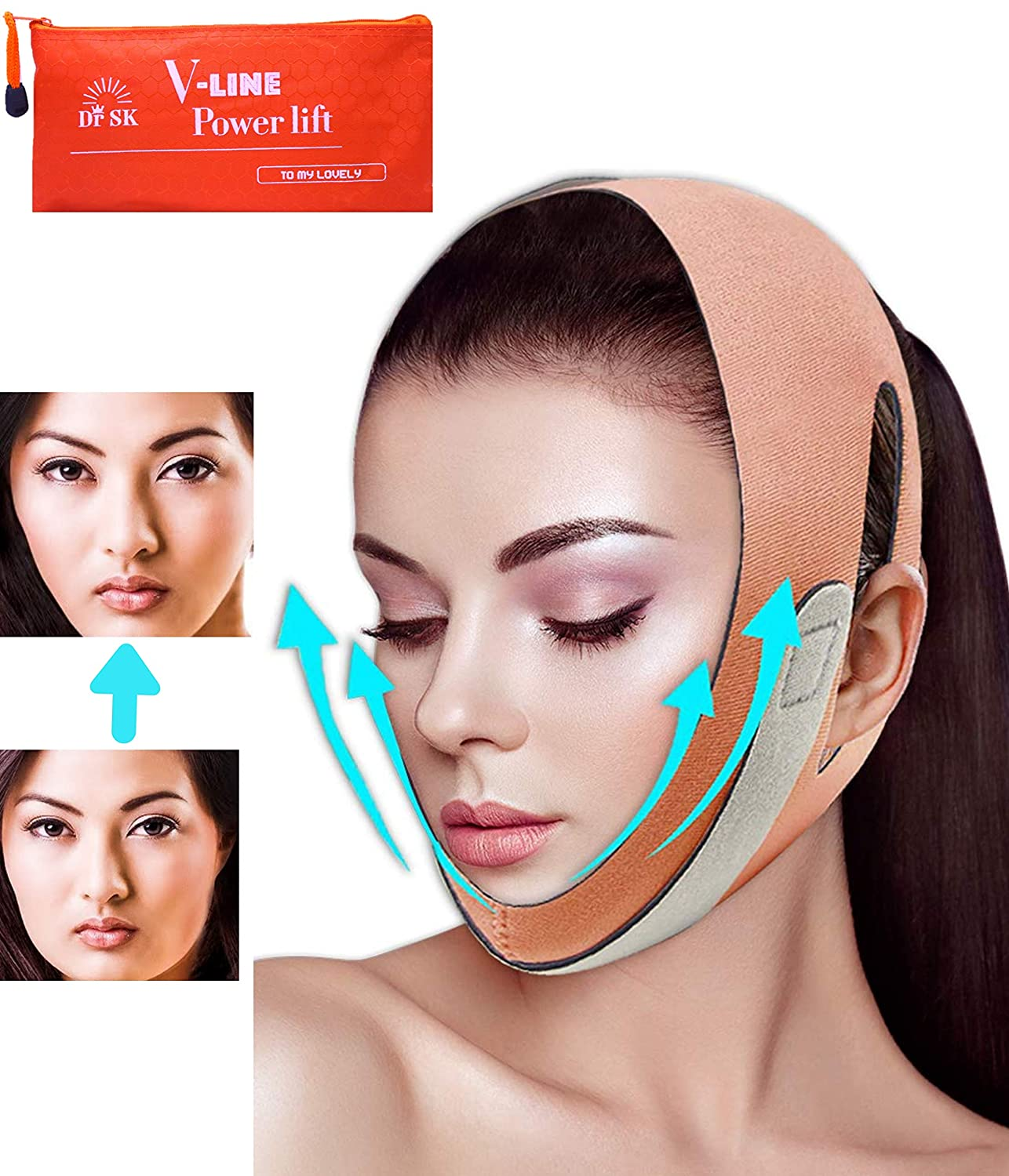 Extra Length Double Chin Fort Worth Mall Reducer Slimmer Super Special SALE held Shaper Face V-L