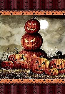 Morigins Scary Halloween Fall Jack o Lantern Pumpkin Double Sided House Flag 28