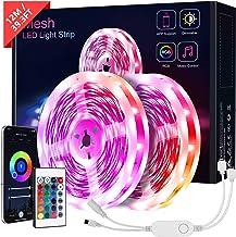 Taśma LED Bluetooth KOOSEED, 12 m, taśma LED 5050 RGB, sterowanie za pomocą aplikacji, pilot zdalnego sterowania, 12 V, ła...