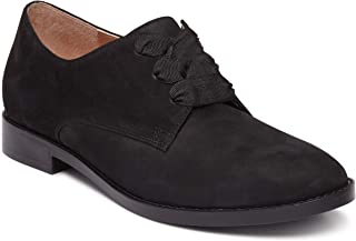 Vionic Women's Wise Evelyn Lace-Up Shoes - Ladies Derby Flats with Concealed Orthotic Arch Support