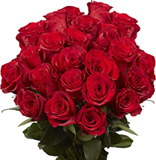 GlobalRose 50 Red Roses- Fresh Cut Flowers- Express Delivery